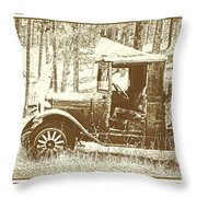 Olde Workhorse Throw Pillow by Barbara Henry