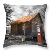 Olden Days Throw Pillow by Debra and Dave Vanderlaan
