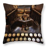 Oliver Throw Pillow by Skip Hunt