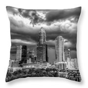 Ominous Charlotte Sky Throw Pillow by Chris Austin