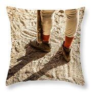On Deck Throw Pillow by Diane Diederich