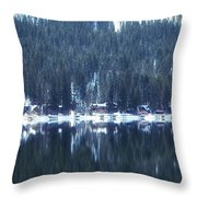 On Donner Throw Pillow by Donna Blackhall
