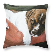 On Guard Throw Pillow by Michael Dillon
