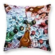 On Ice Throw Pillow by Lana Trussell