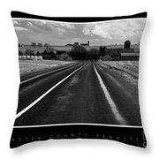 On The Road Throw Pillow by Vilas Malankar