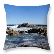On The Rocks Throw Pillow by Barbara Snyder