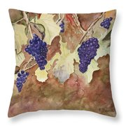 On The Vine Throw Pillow by Patricia Novack