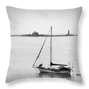 On The Water Throw Pillow by Mike McGlothlen