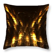 On The Wings Throw Pillow by Kim Sy Ok