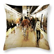 On Time Throw Pillow by Diana Angstadt