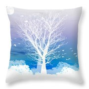 Once Upon A Moon Lit Night... Throw Pillow by Holly Kempe