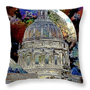 Once Upon A Time On A Warm Summers Night In San Francisco 5d22548 Artwork Throw Pillow by Wingsdomain Art and Photography
