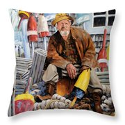Once Upon A Time We Were Mariners Throw Pillow by Richard T Pranke