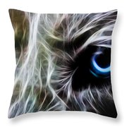 One Eye Throw Pillow by Aged Pixel