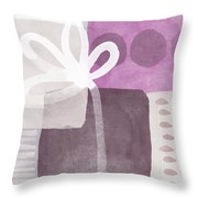One Flower- contemporary painting Throw Pillow by Linda Woods