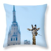 One More Bite To Outgrow The Tallest 2 Throw Pillow by Alexander Senin