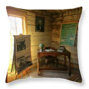 One Room School Throw Pillow by John Malone