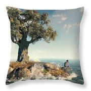 One Tree Island Throw Pillow by Daniel Eskridge