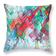 only through the blessing of Hashem Yisborach 1 Throw Pillow by David Baruch Wolk