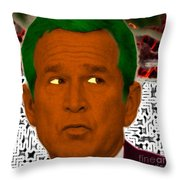 Oompaloompa Bush Throw Pillow by Andrew Kaupe