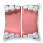 Open Wide Throw Pillow by Allan Swart
