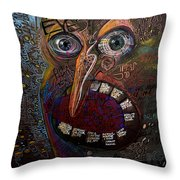Open Your Eyes Throw Pillow by Frank Robert Dixon