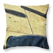 Opposite Direction Throw Pillow by Karol Livote