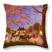 Opryland Hotel Christmas Throw Pillow by Brian Jannsen