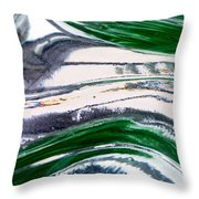 Optical Illusion Throw Pillow by Wendy Wilton