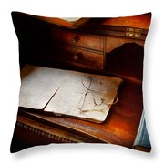Optometrist - Done For The Night Throw Pillow by Mike Savad