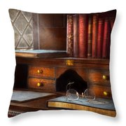 Optometrist - Glasses - Career paths  Throw Pillow by Mike Savad