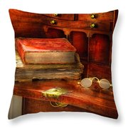 Optometrist - Glasses - The Secretary Throw Pillow by Mike Savad