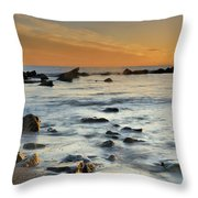 Orange At Sunset Throw Pillow by Guido Montanes Castillo