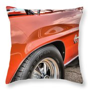 Orange Chevelle Ss 396 Throw Pillow by Dan Sproul