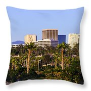 Orange County California Office Buildings Picture Throw Pillow by Paul Velgos