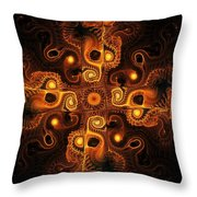 Orange Cross Throw Pillow by Anastasiya Malakhova