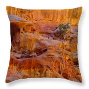 Orange Rock Formation Throw Pillow by Jeff Swan