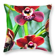 Orchid Rusty Throw Pillow by Marty Koch