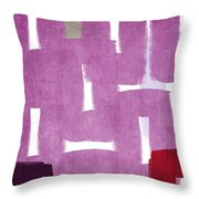 Orchids In The Window Throw Pillow by Linda Woods