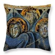 Order Of Cherubim Angels - Study No. 2 Throw Pillow by Steve Bogdanoff