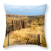 Oregon Corral Throw Pillow by Betty LaRue