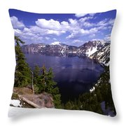 Oregon Crater Lake  Throw Pillow by Anonymous