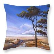 Oregon Dunes On The Coast Throw Pillow by Pat Cross