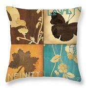 Organic Nature 3 Throw Pillow by Debbie DeWitt