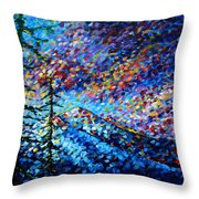 Original Abstract Impressionist Landscape Contemporary Art By Madart Mountain Glory Throw Pillow by Megan Duncanson