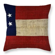 Original Stars And Bars Confederate Civil War Flag Throw Pillow by Daniel Hagerman