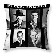 Original Gangsters - Public Enemies Throw Pillow by Paul Ward