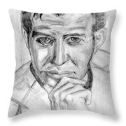 The one and not now only James T Kirk Throw Pillow by Madeline Moore
