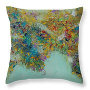 Worldly Flowers Throw Pillow by Sara Gardner