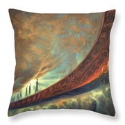 Origins Throw Pillow by Lucy West